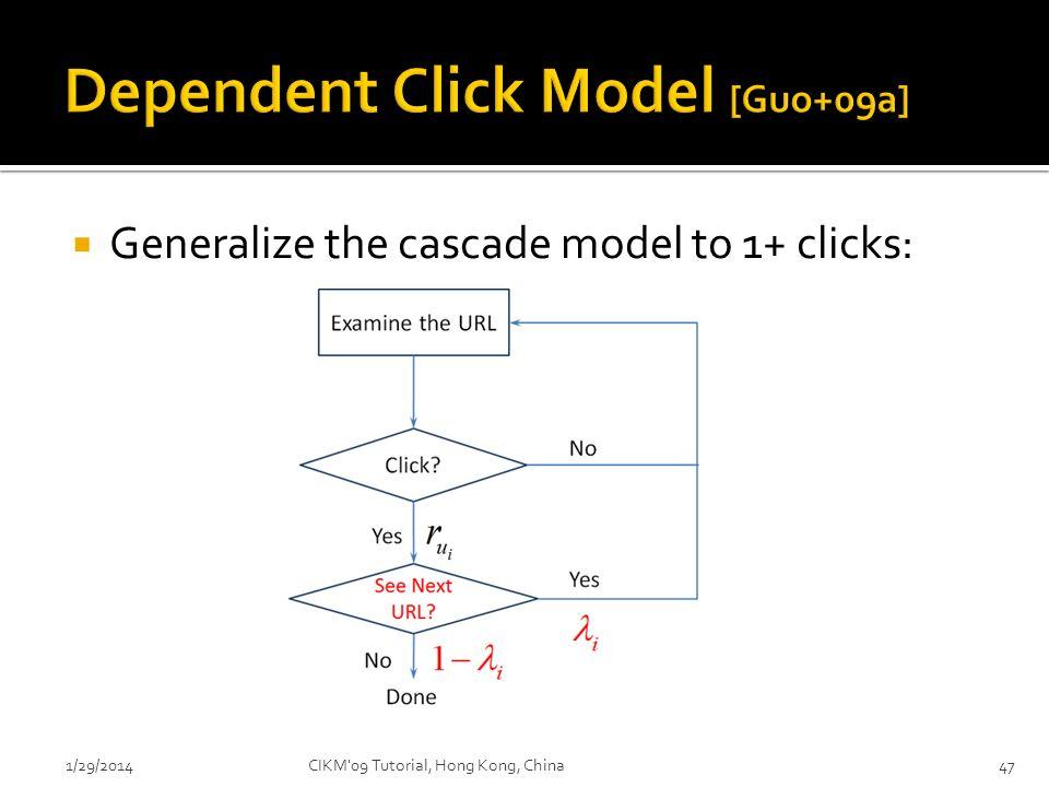 Dependent Click Model [Guo+09a]